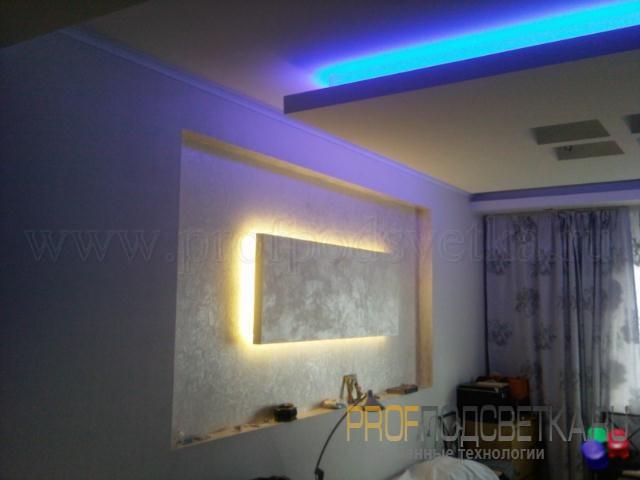 Как светодиодной лентой сделать подсветку картины