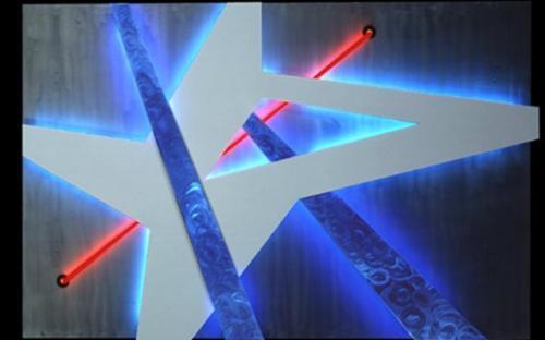 лампы подсветки в картине