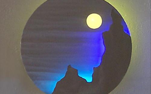 неоновая подсветка картин