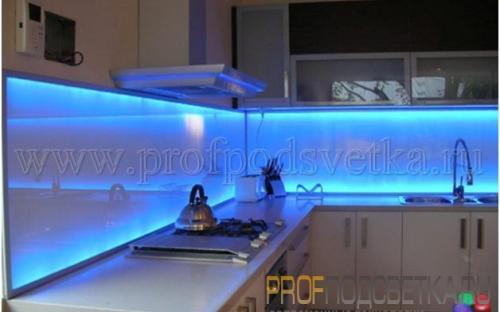 Светодиодная подсветка кухни