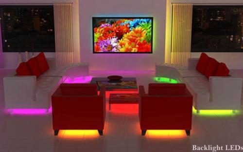 LED подсветка кровати