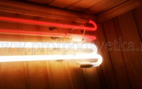 декоративное освещение в бане