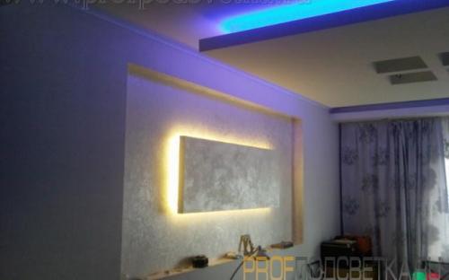 подсветка ниш стены и потолка
