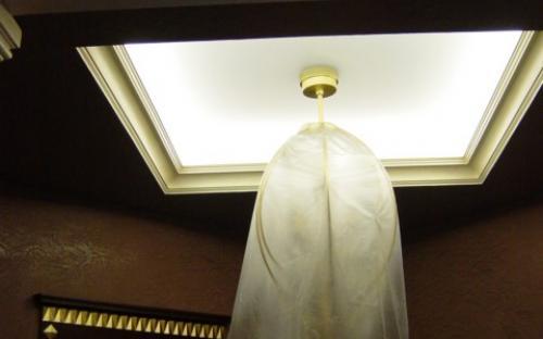подсветка потолочной люстры