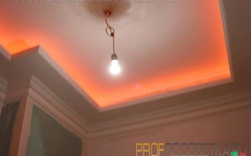 подсветка потолка светодиодами меняющими цвет с пульта RGB